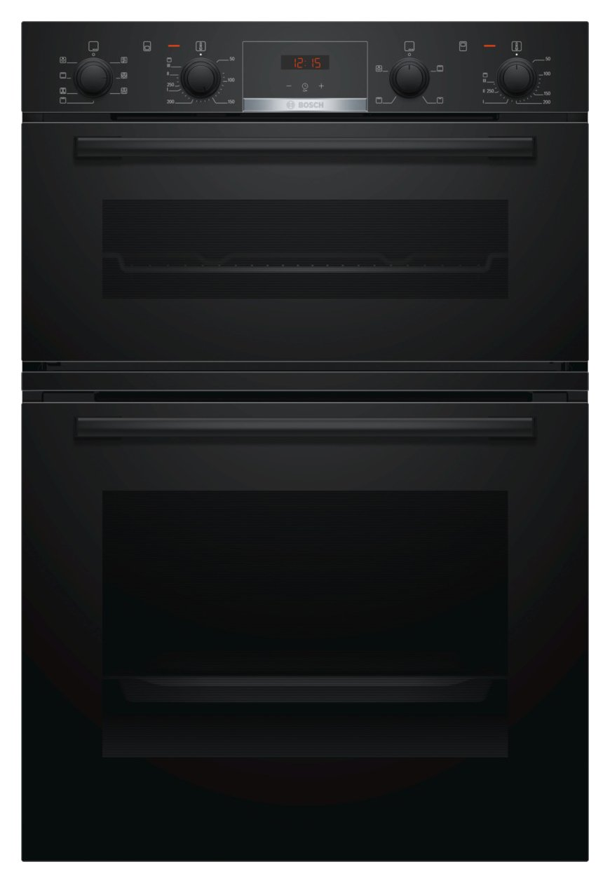 Bosch MBS533BB0B Built In Double Electric Oven - Black Best Price, Cheapest Prices