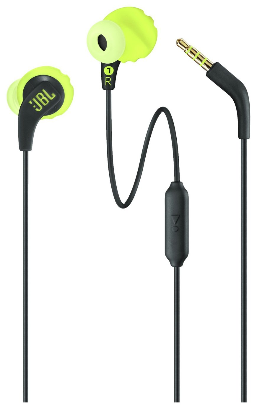 JBL Endurance Run Sports In-Ear Wired Headphones - Black