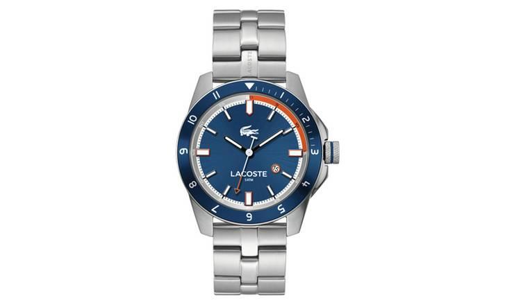3bc65997ea3 Buy Lacoste Durban Men s Silver Stainless Steel Bracelet Watch ...