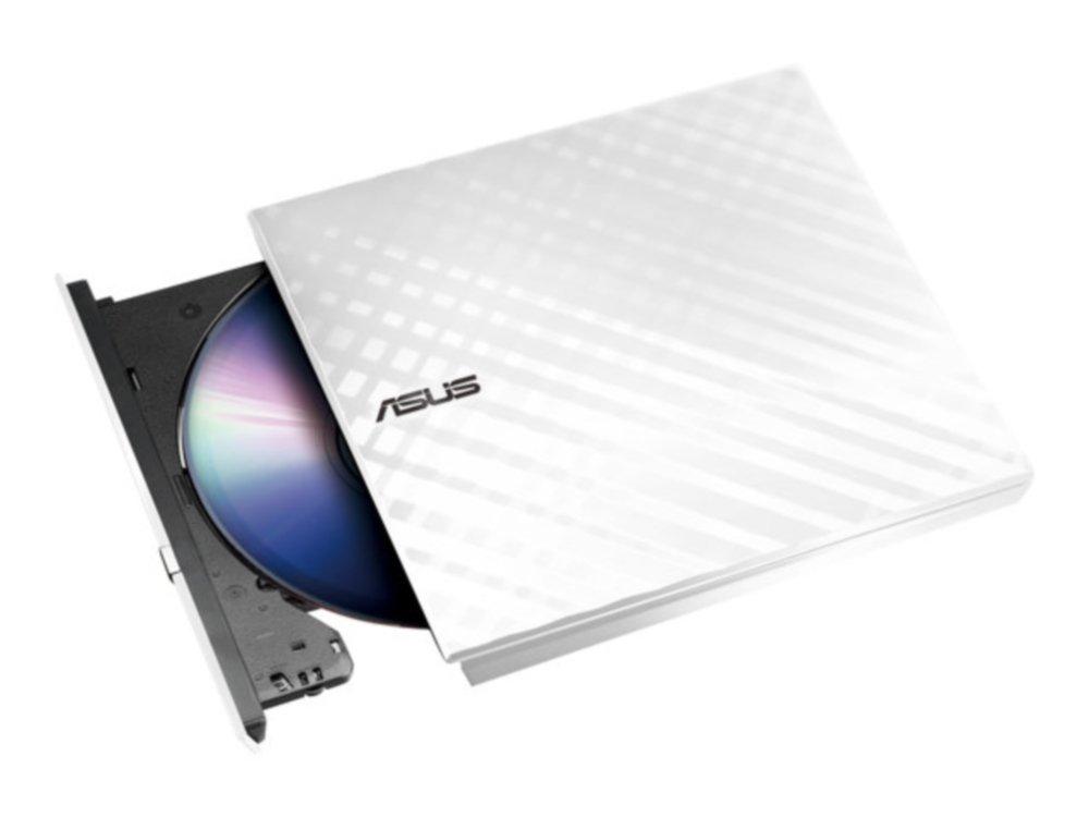 Asus Slim External DVD Writer - White