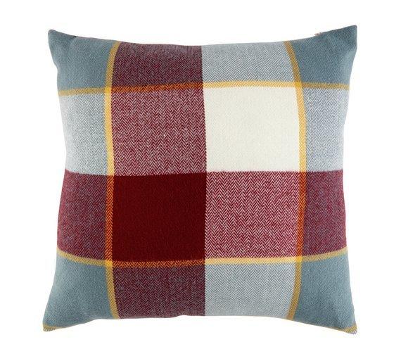 argos home check cushion reviews. Black Bedroom Furniture Sets. Home Design Ideas