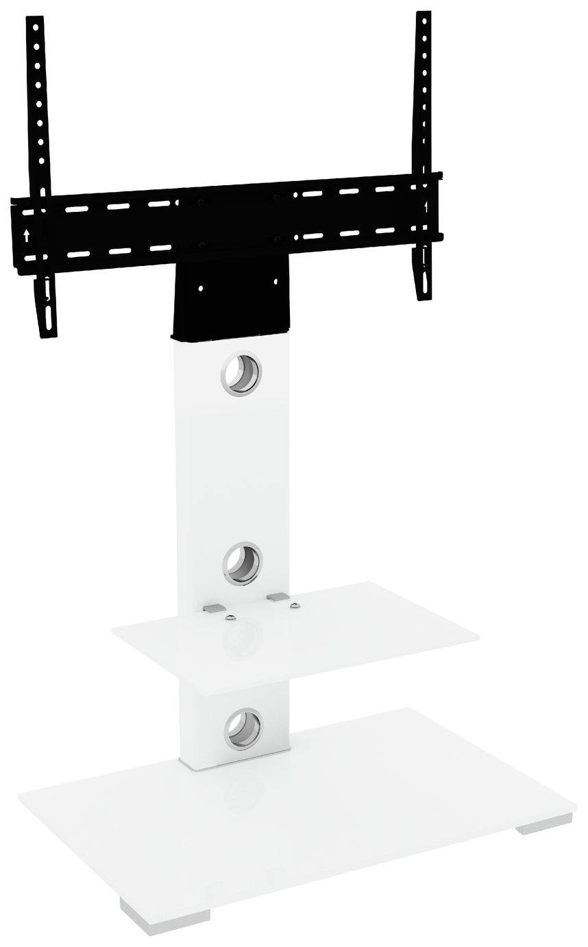 AVF Column Mount Up to 65 Inch TV Stand - White