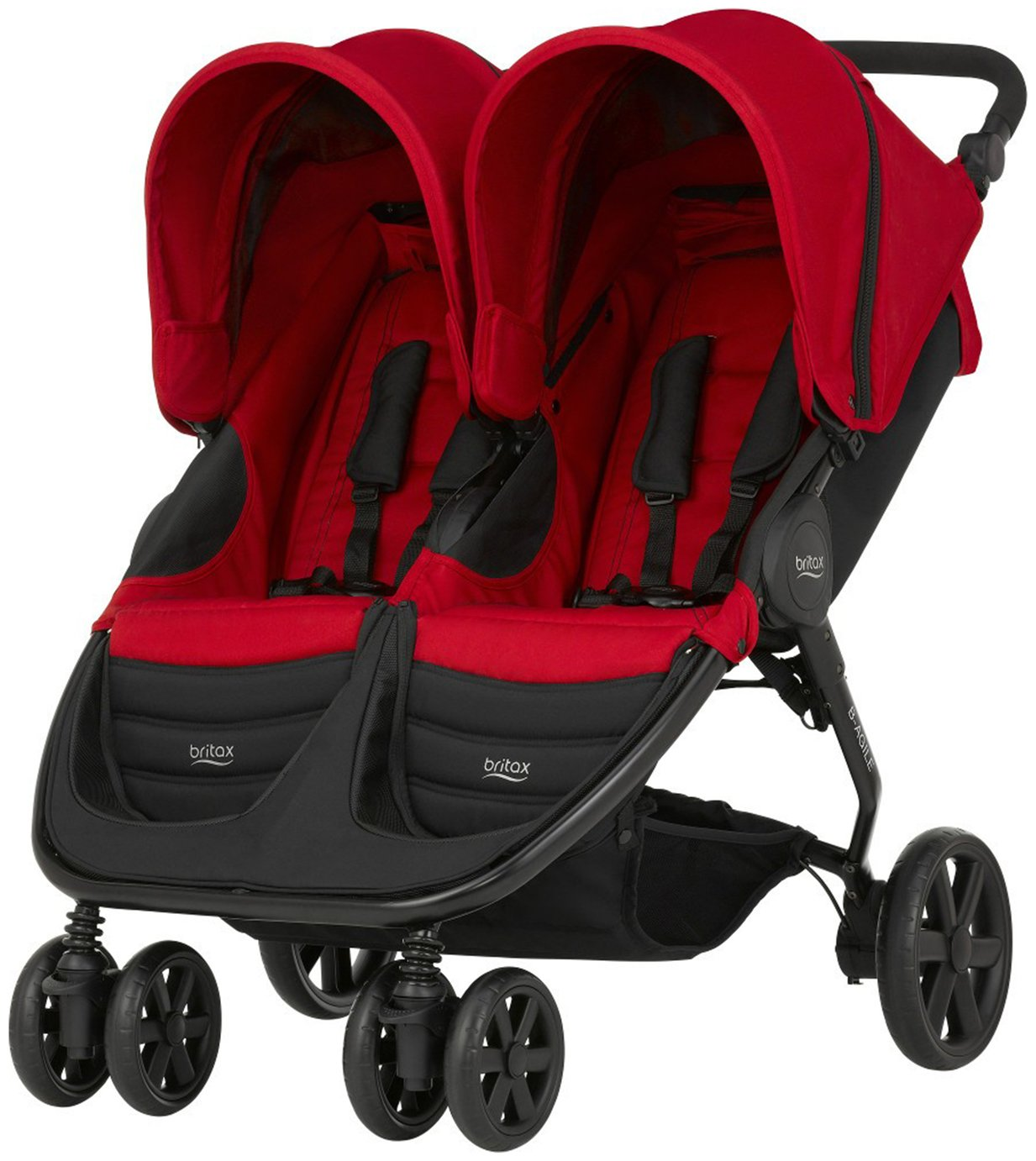 Image of Britax Romer B-AGILE DOUBLE Pushchair - Flame Red