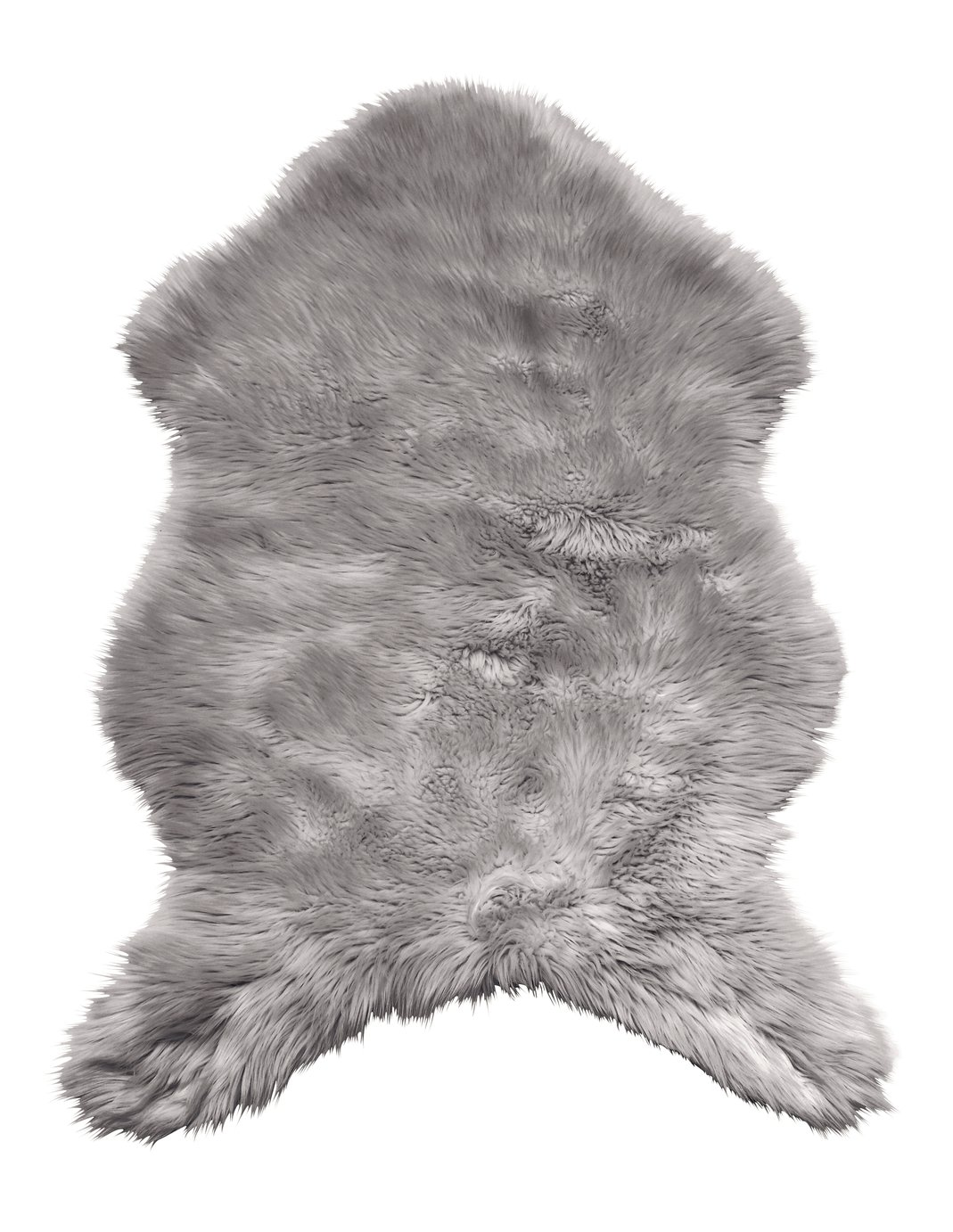 Argos Home Small Faux Sheepskin Rug - 115x70cm - Dove Grey