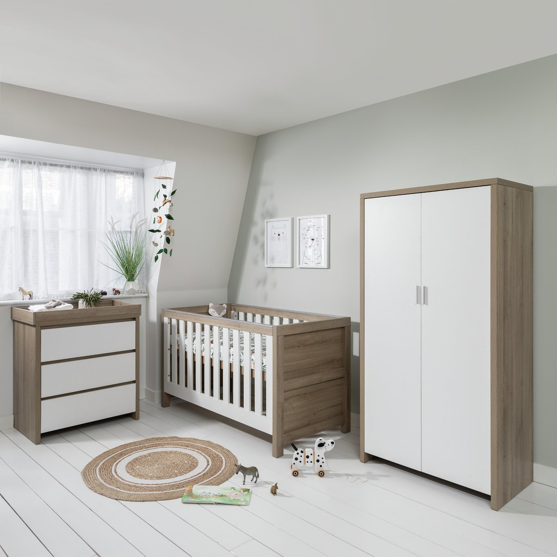 Modena 3 Piece Room Set - White Oak