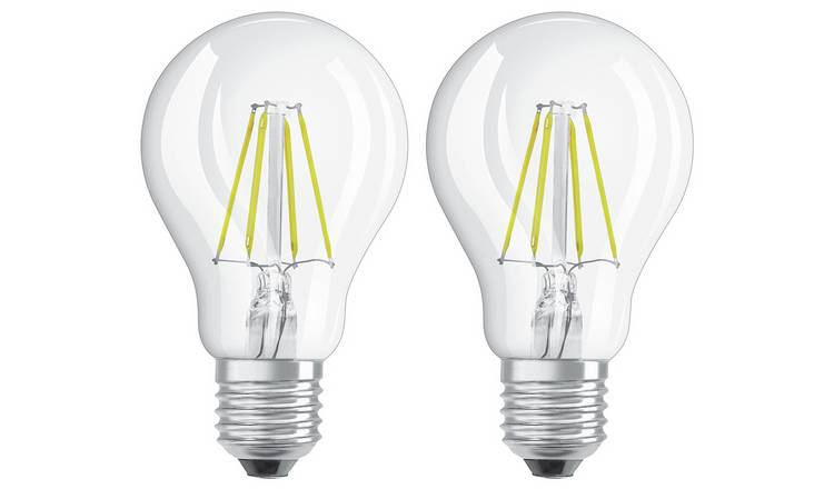Osram 4W Filament LED Classic Glass ES GLS Bulb - Twin Pack