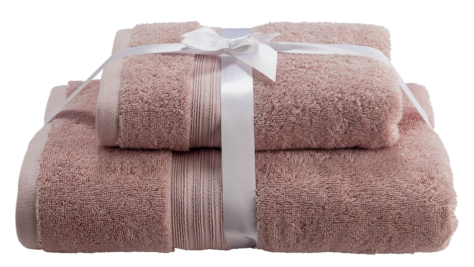 Argos Home Egyptian Cotton 2 Piece Towel Bale - Blush