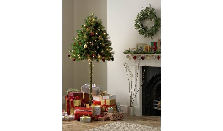 Images Of Christmas Trees.Buy Argos Home 6ft Half Parasol Christmas Tree Green Artificial Christmas Trees Argos