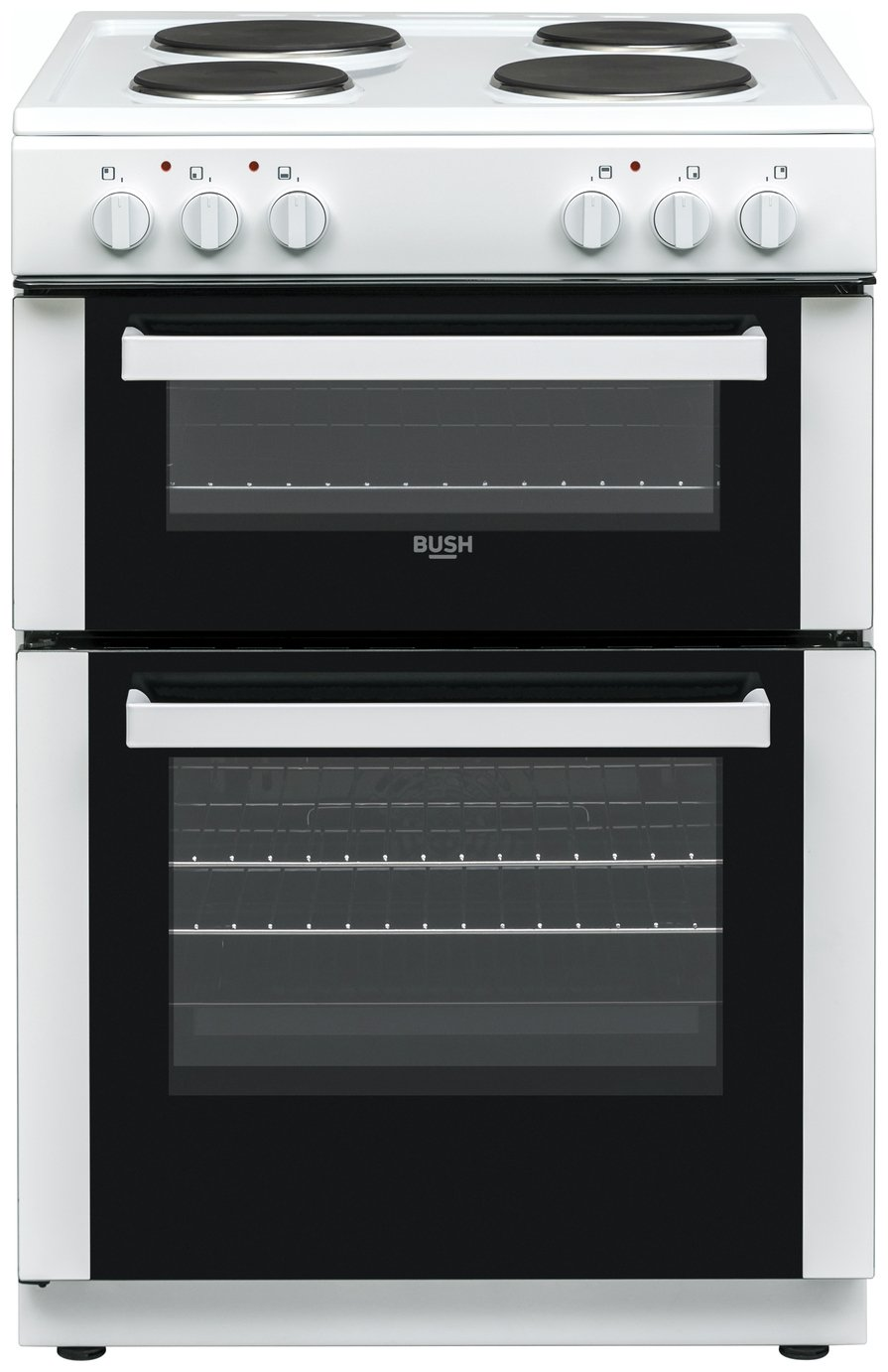 Bush DHBET60W 60cm Twin Cavity Electric Cooker - White