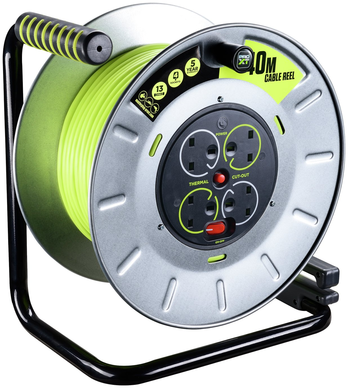 Masterplug PRO-XT4 4 Socket Cable Reel - 40m