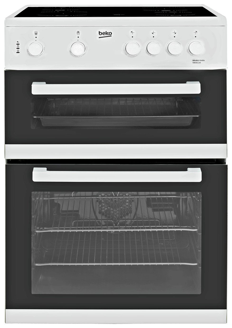 Image of Beko KDC611W Double Electric Cooker - White