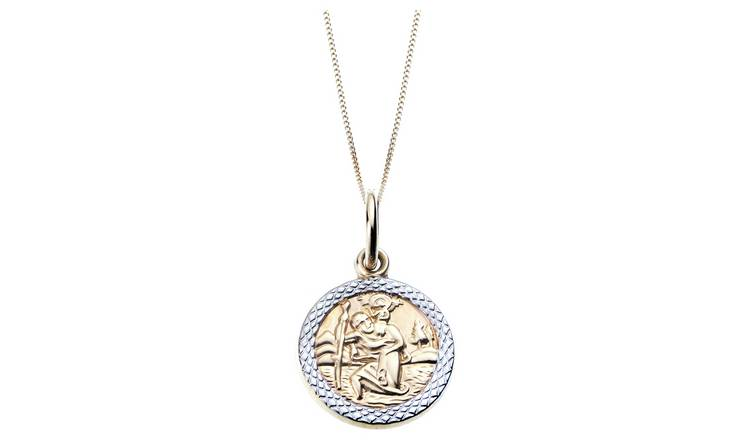 Revere 9ct Gold St. Christopher Pendant Necklace