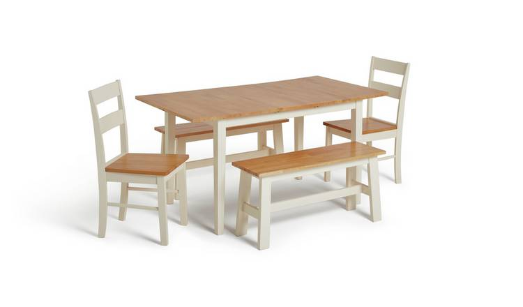 buy popular 23525 214a4 Buy Argos Home Chicago Extending Table, 2 Benches & 2 Chairs | Dining table  and chair sets | Argos