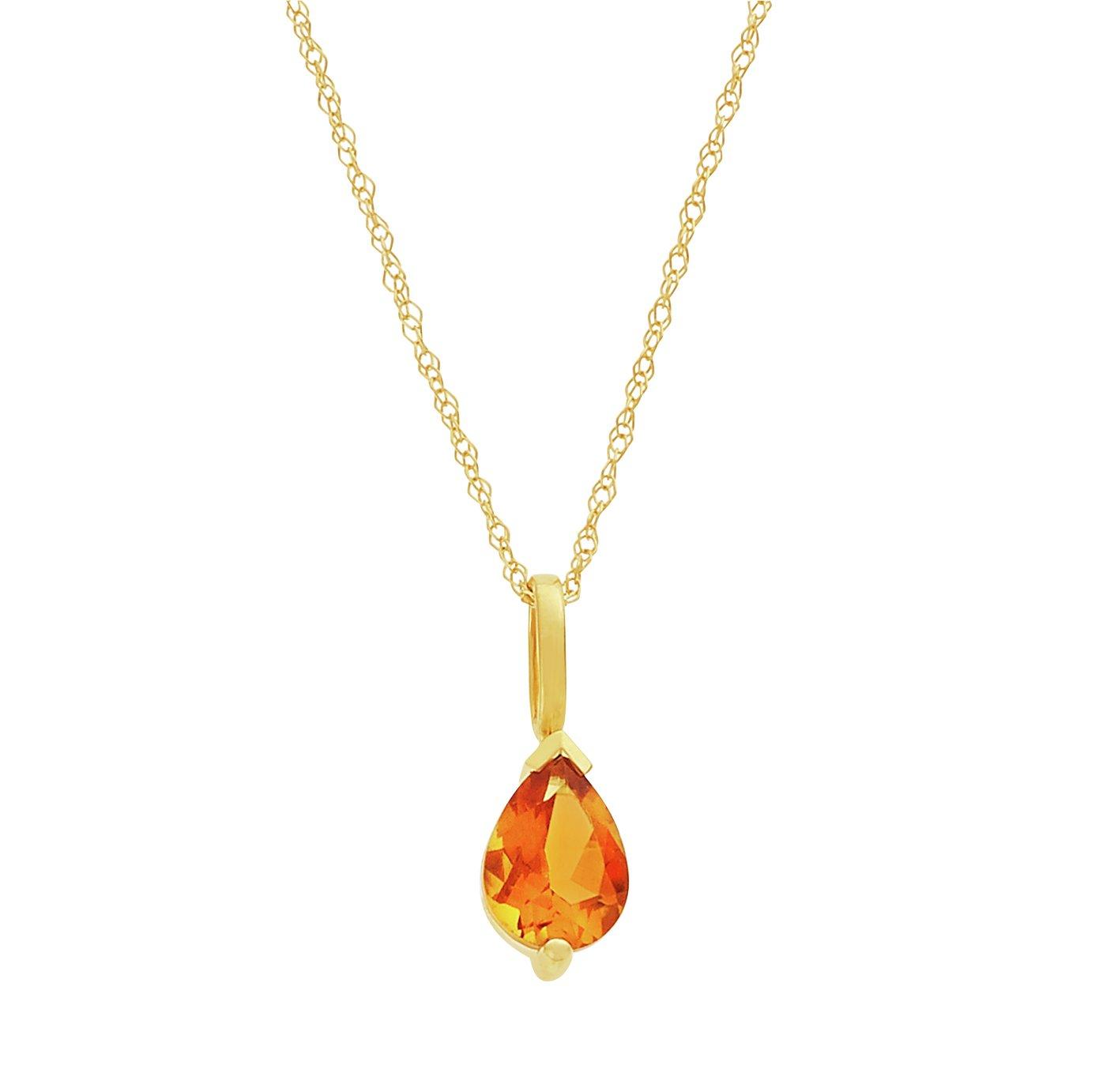 Revere 9ct Gold Pear Shape Pendant Necklace