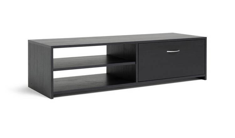 Tv Tables Hernan Tv Unit: Buy Argos Home 1 Drawer TV Unit - Black