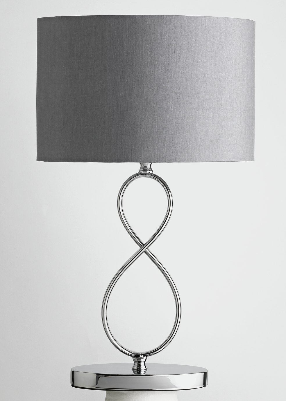 Argos Home Fira Figure 8 Table Lamp - Chrome