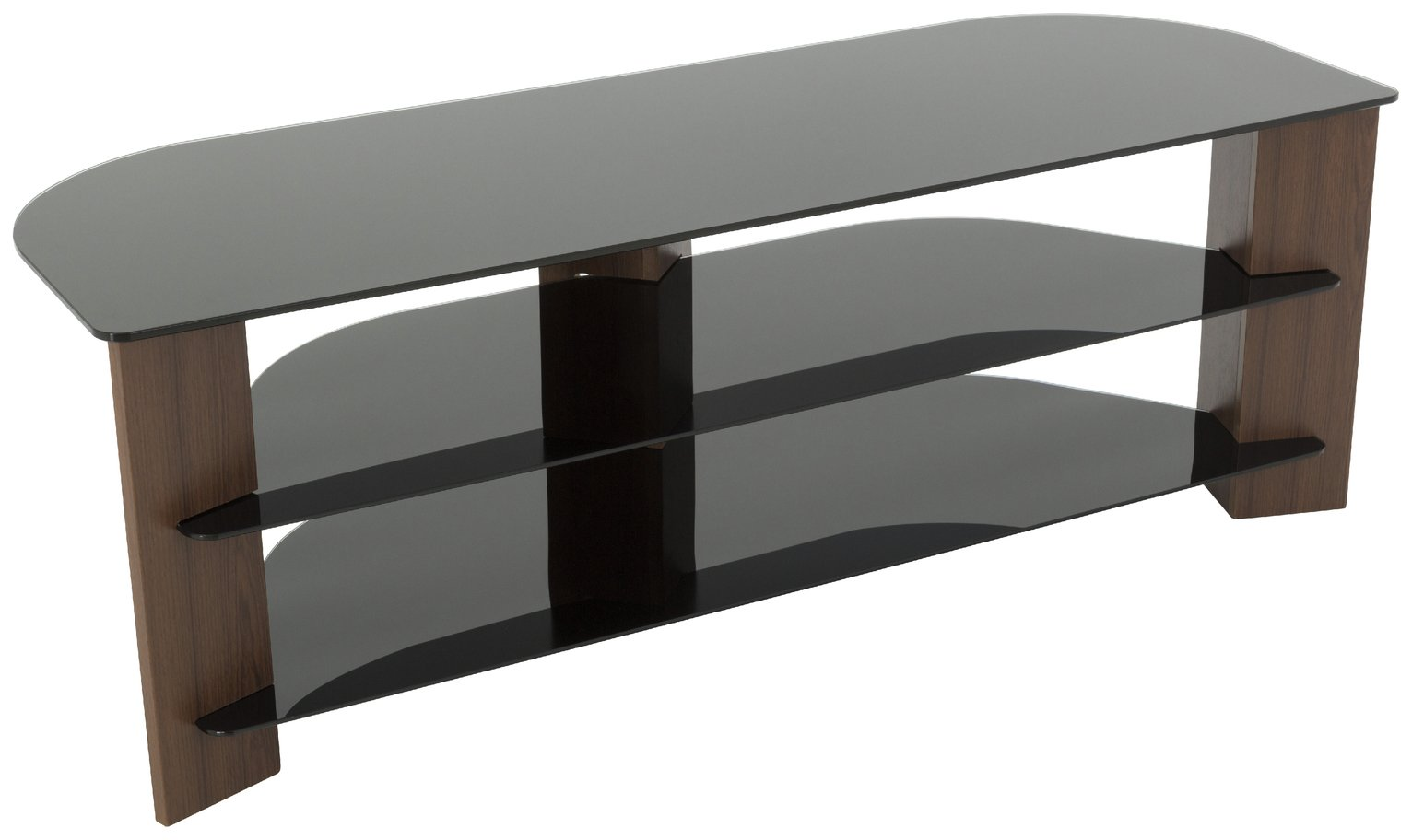 AVF Wood Effect up to 65 Inch TV Corner Stand - Walnut