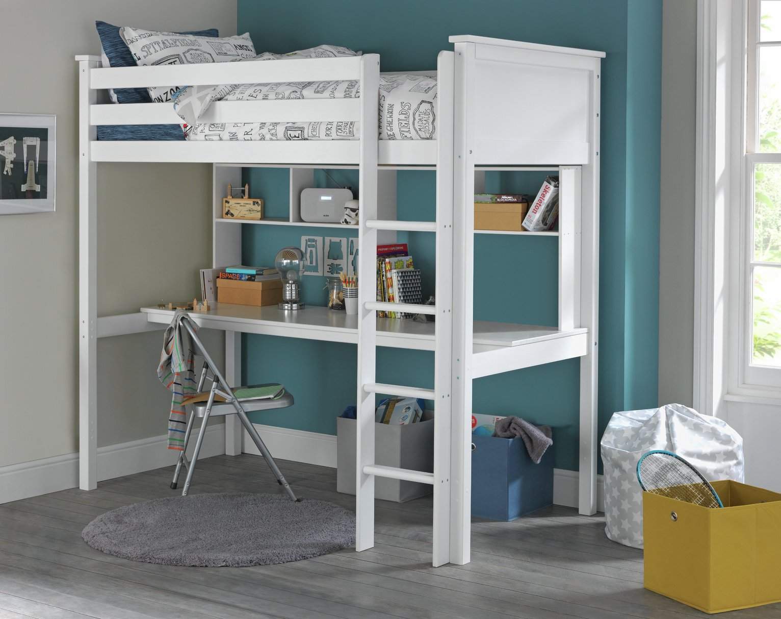 Image of Collection Brooklyn Highsleeper, Desk,Shelves& Mattress