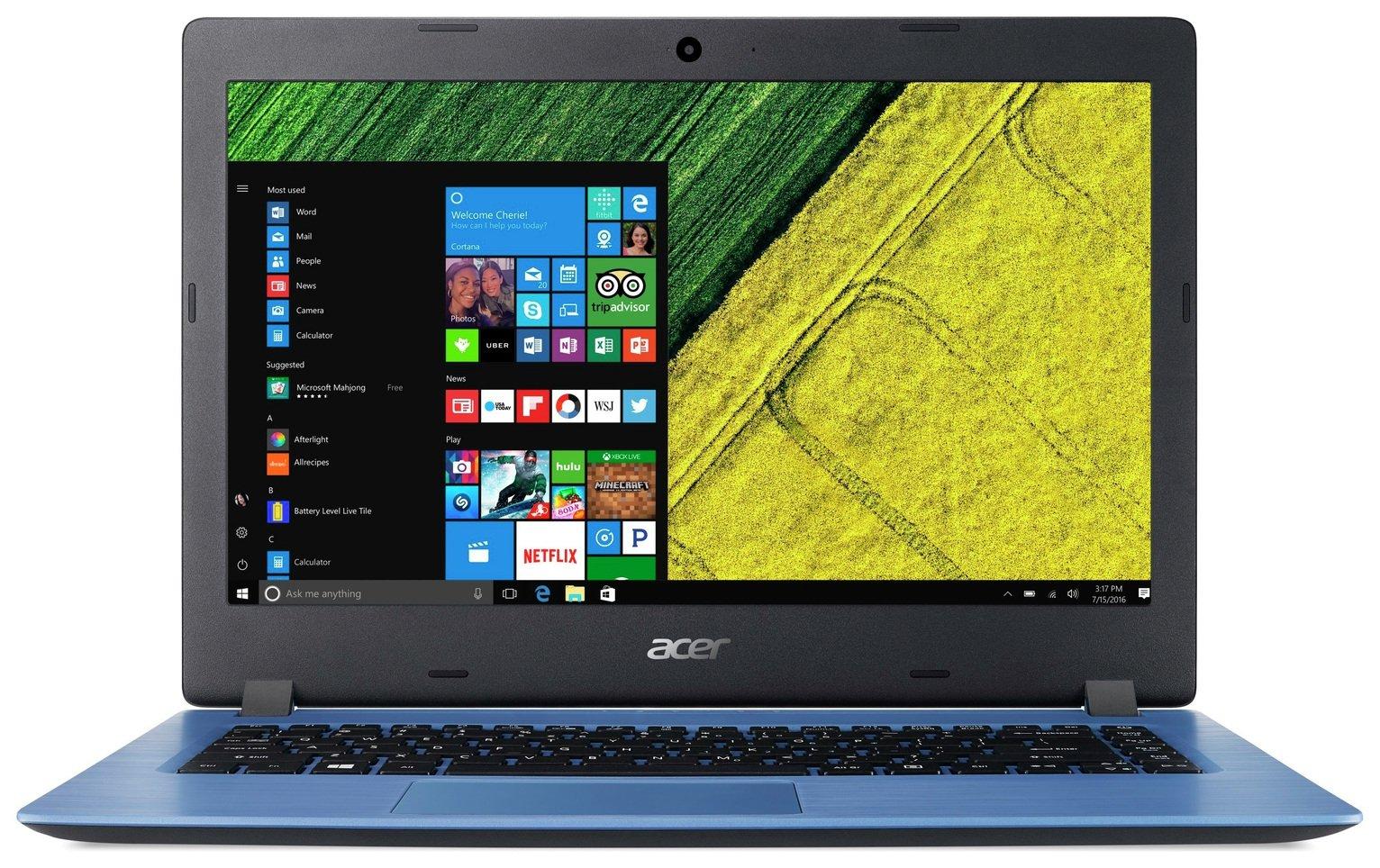 Image of Acer Aspire 3 14 Inch Pentium 4GB 128GB Laptop Bundle - Blue