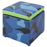 X Rocker Geo Camo Storage Cube - Blue & Green