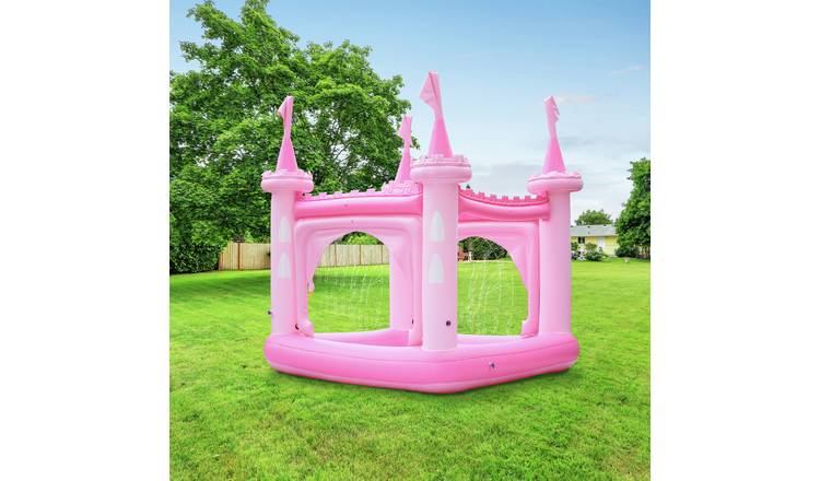 Teamson Kids 8ft Water Fun Pink Castle Kids Paddling Pool