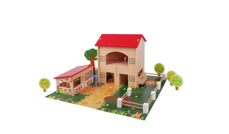 Chad Valley Wooden Farm - 40 Piece Set