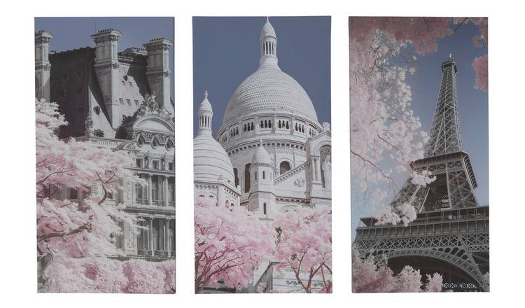 The Art Group Paris Canvas Trio Wall Art