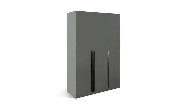 Habitat Munich 3 Door Wardrobe - Anthracite