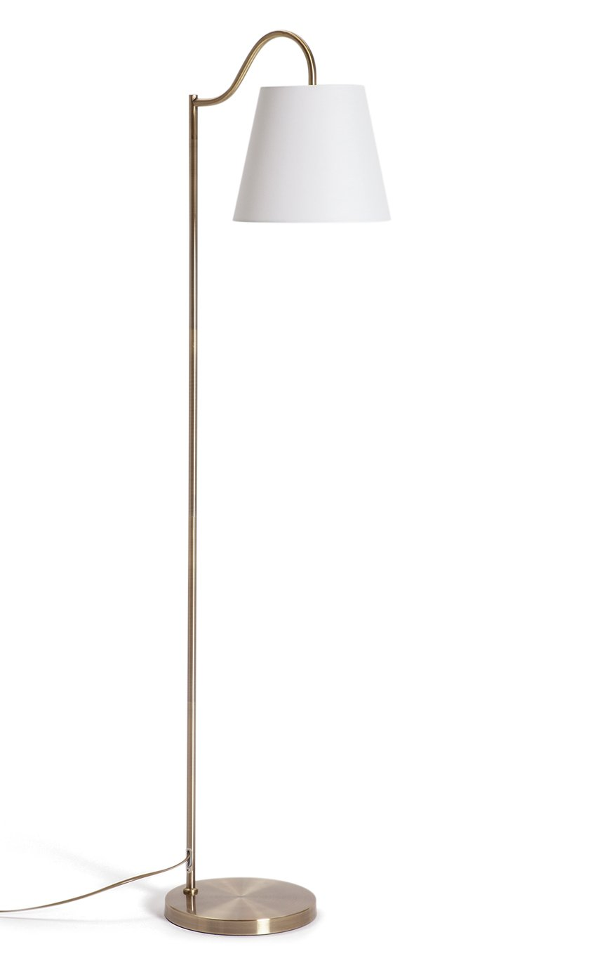 Argos Home Gooseneck Floor Lamp - Brass
