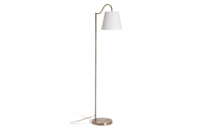 Argos Home Gooseneck Floor Lamp - Brass