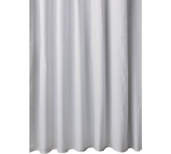 Buy HOME Mould Resistant Shower Curtain - White at Argos.co.uk ...