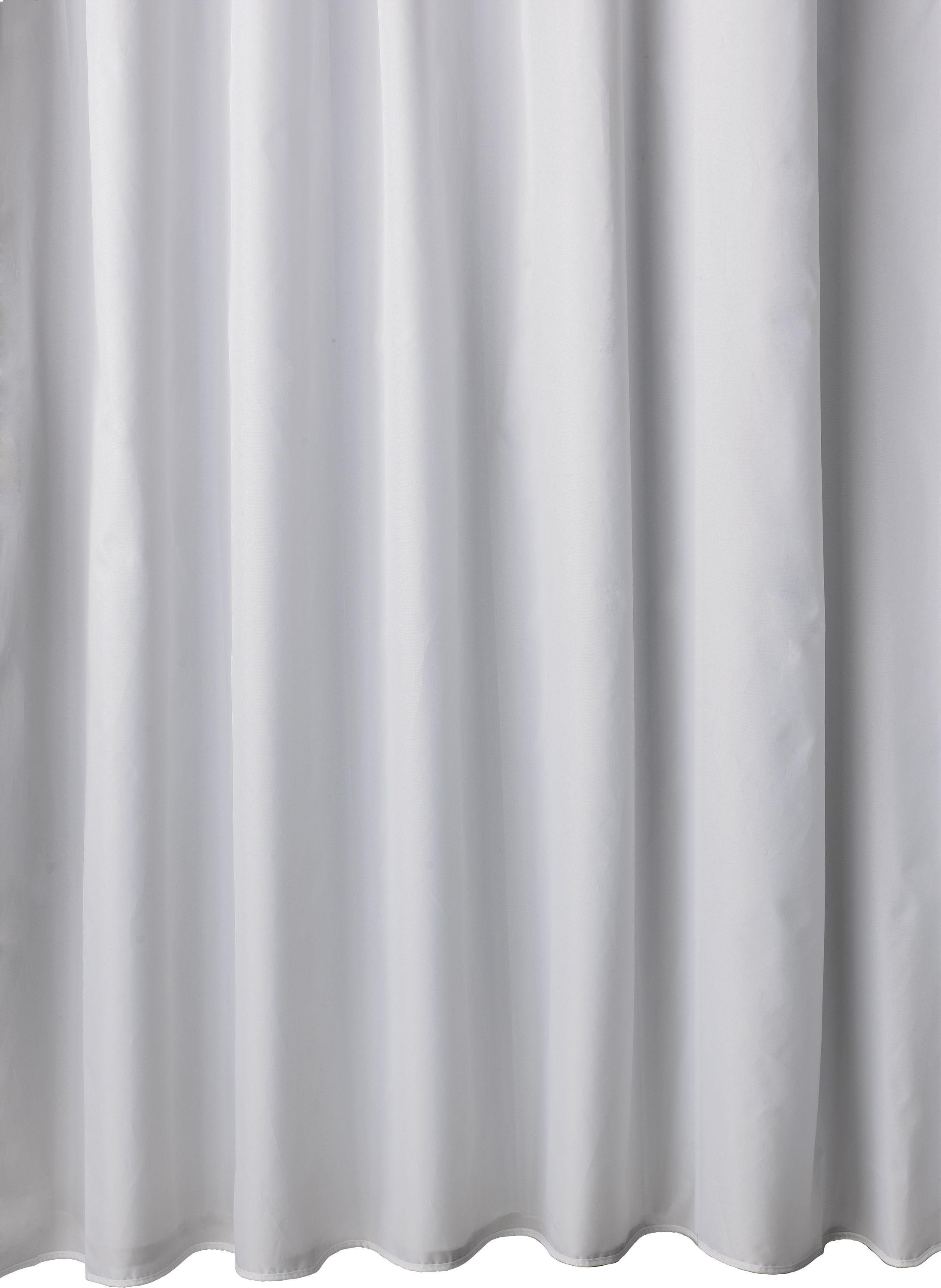 home mould resistant shower curtain white