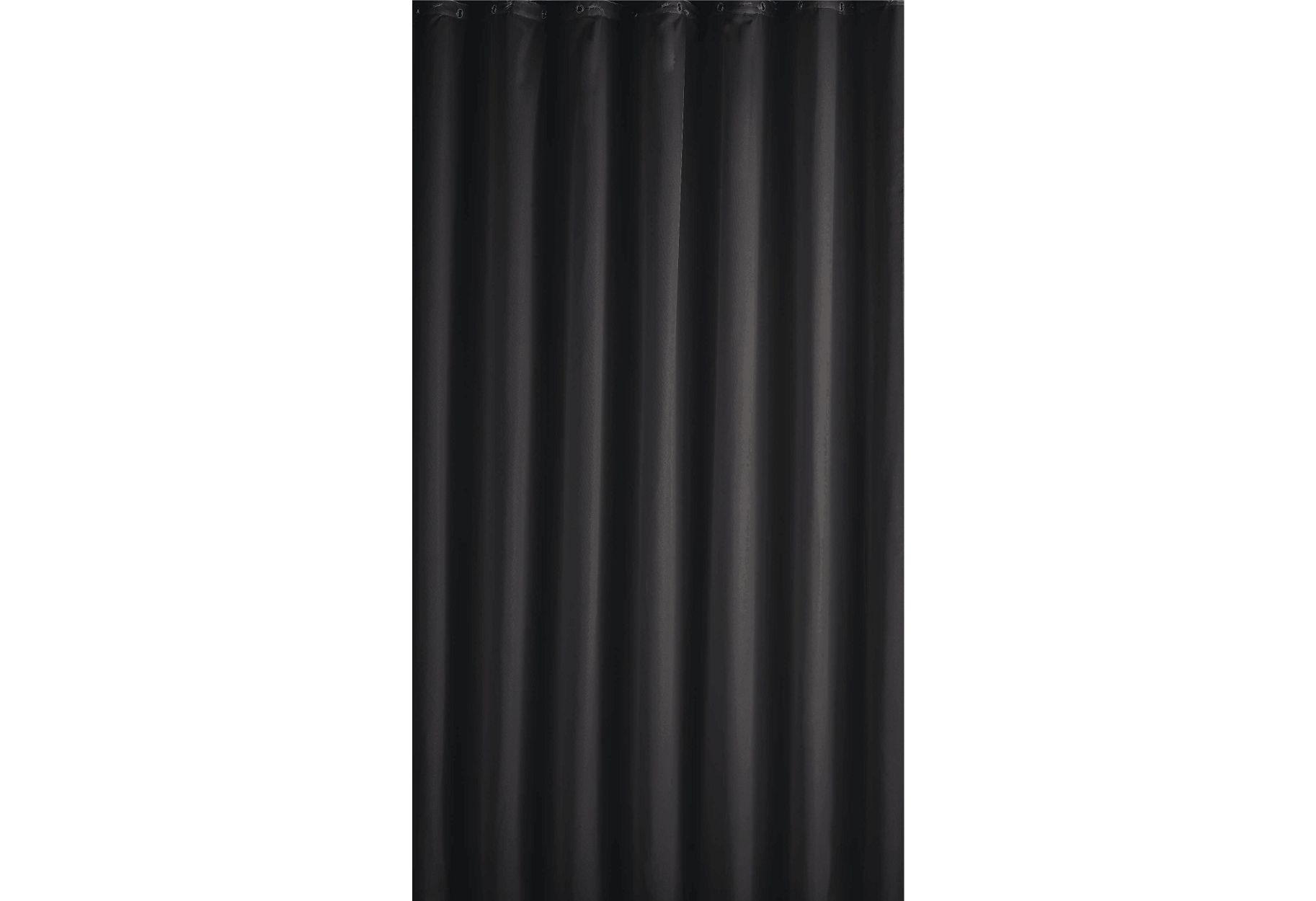 ColourMatch Plain Shower Curtain   Jet Black