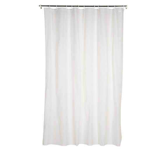 beige and white shower curtain. Click To Zoom Buy Simple Value Shower Curtain  White Curtains And Poles