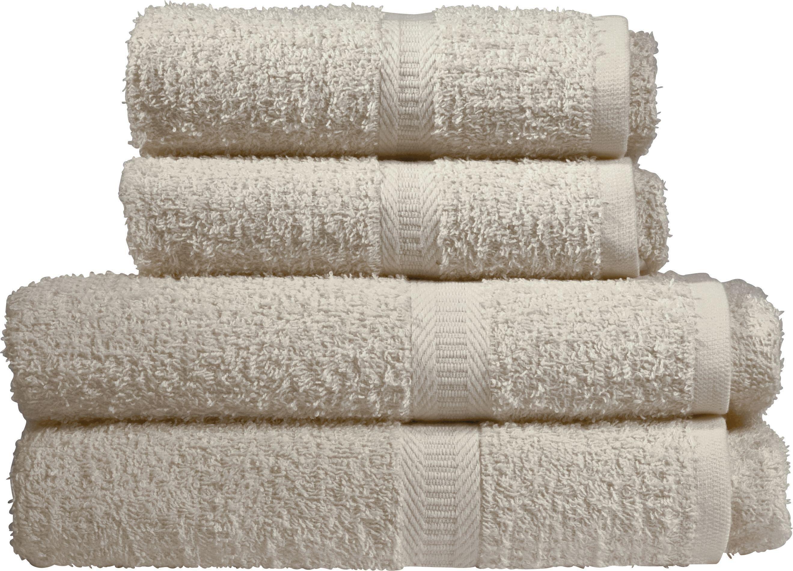 Simple Value - 4 Piece - Towel Bale - Cream