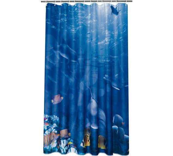 Argos Home Ocean Shower Curtain