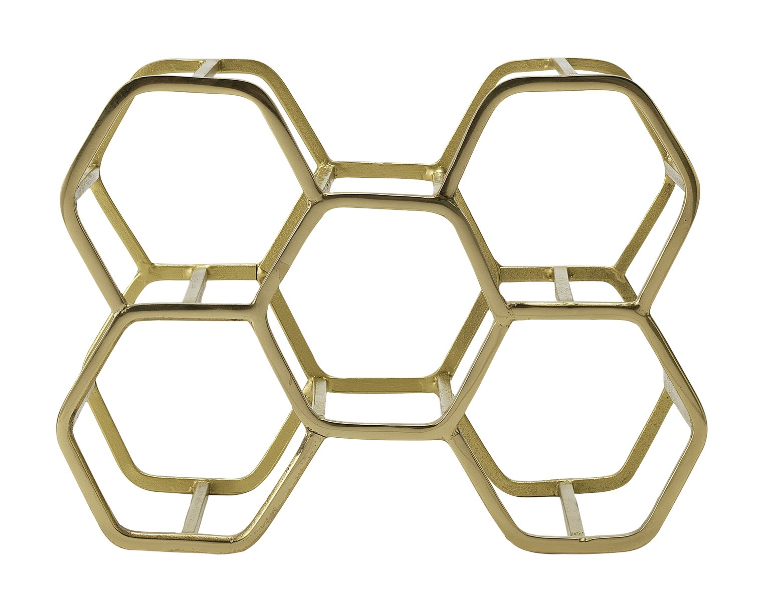 Argos Home Hexagonal 6 Bottle Wine Rack