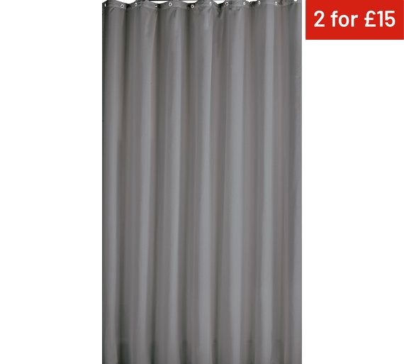 Buy Colourmatch Shower Curtain Flint Grey At Argos Co Uk Your
