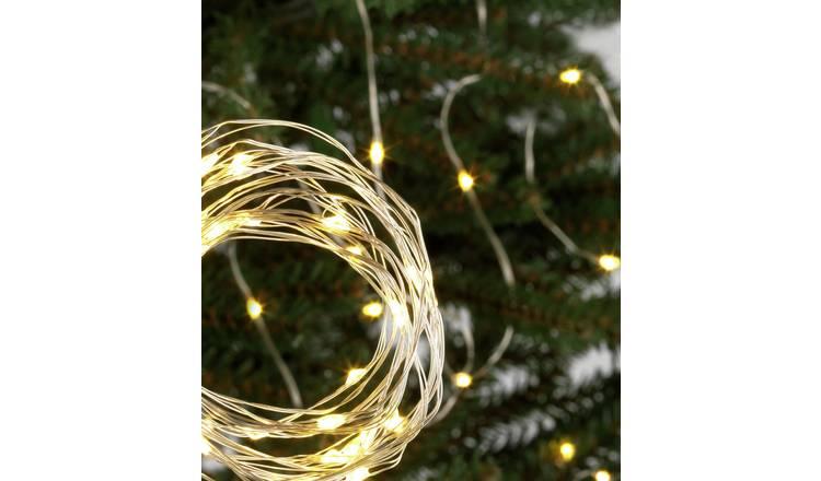 Christmas Led String Lights.Buy Argos Home 120 Warm White Led String Lights 9m Christmas Lights Argos