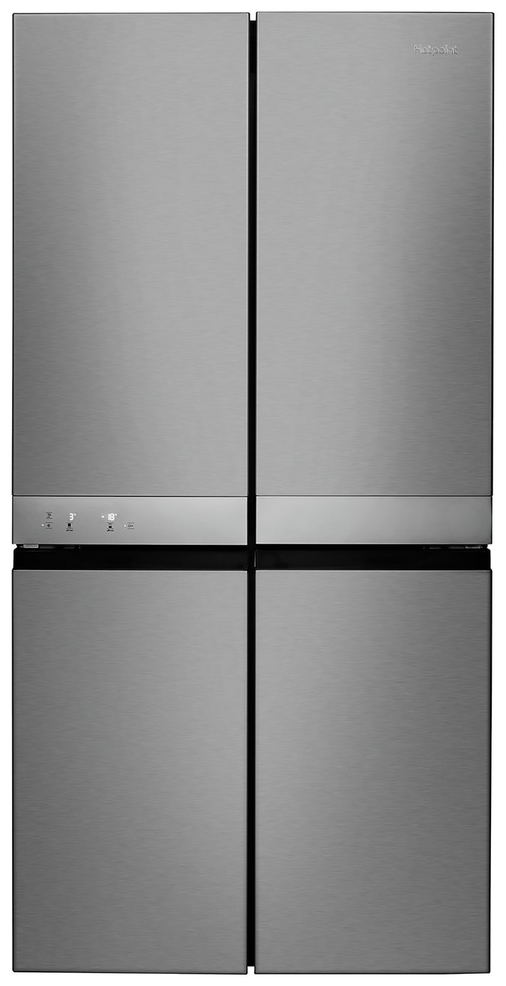 Hotpoint HQ9E1L American Fridge Freezer - Stainless Steel