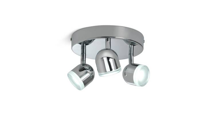 Argos Home Cleo 3 LED Spotlight Bar - Chrome