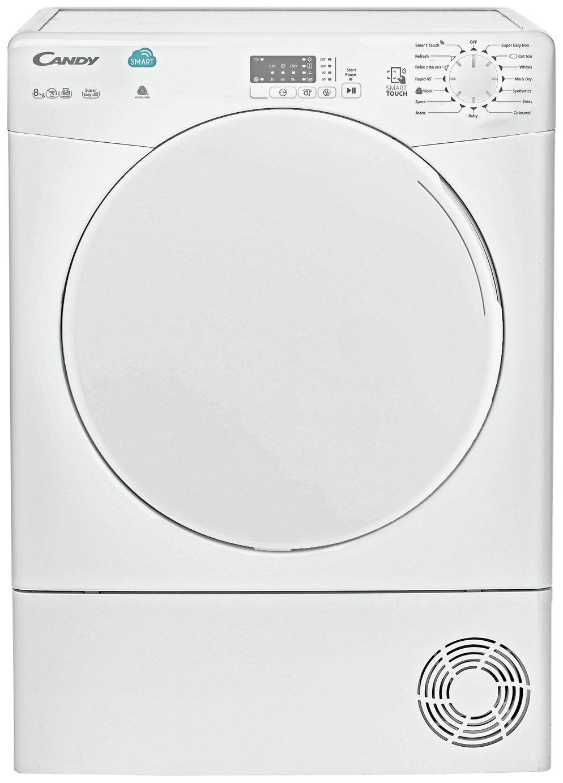 Candy CSC8LF 8KG Sensor Dry Condenser Tumble Dryer - White