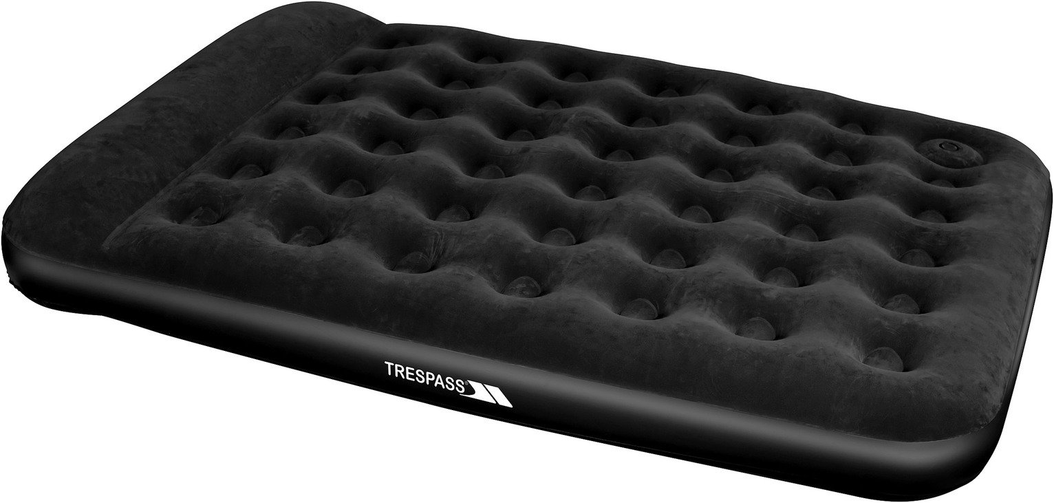Trespass Kingsize Flocked Air Bed with Foot Pump