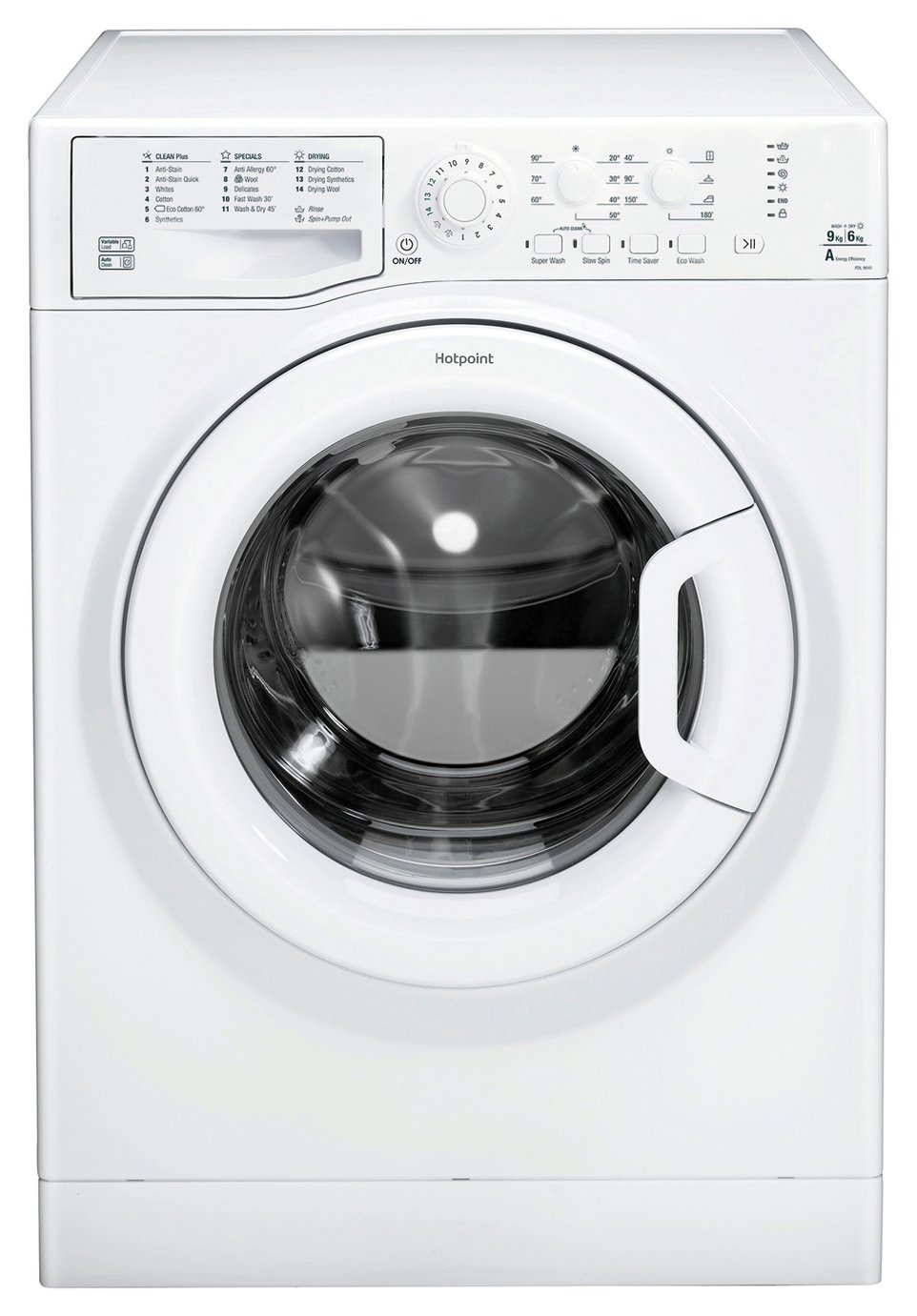 Hotpoint FDL9640P 9KG / 6KG Washer Dryer - White