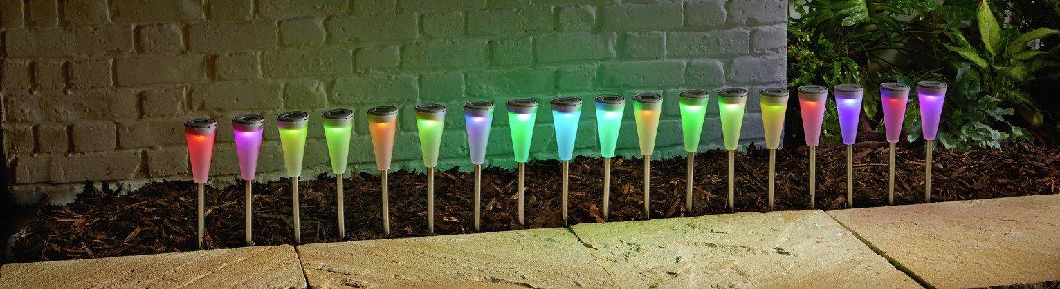 Argos Home Set of 18 LED Solar Colour Changing Lights