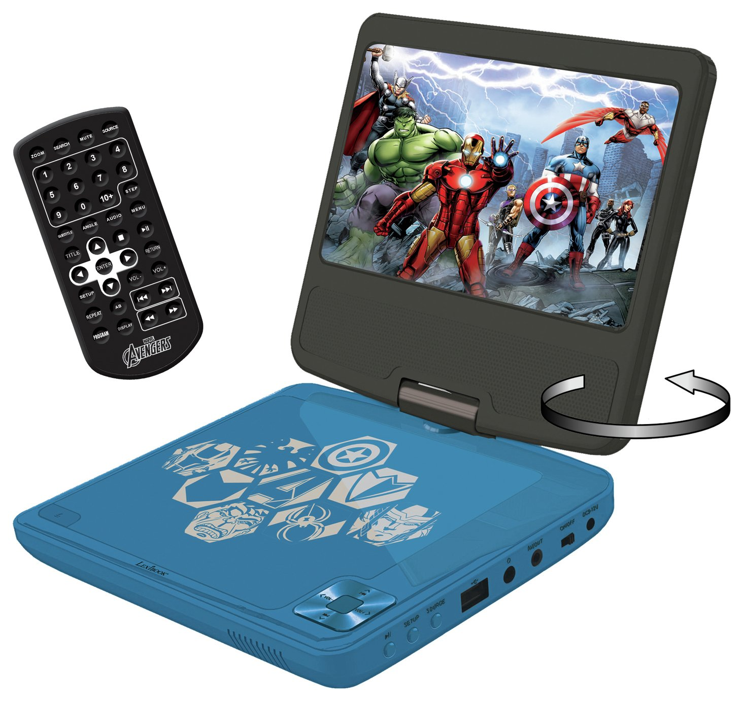 Lexibook Avengers 7 Inch Portable DVD Player