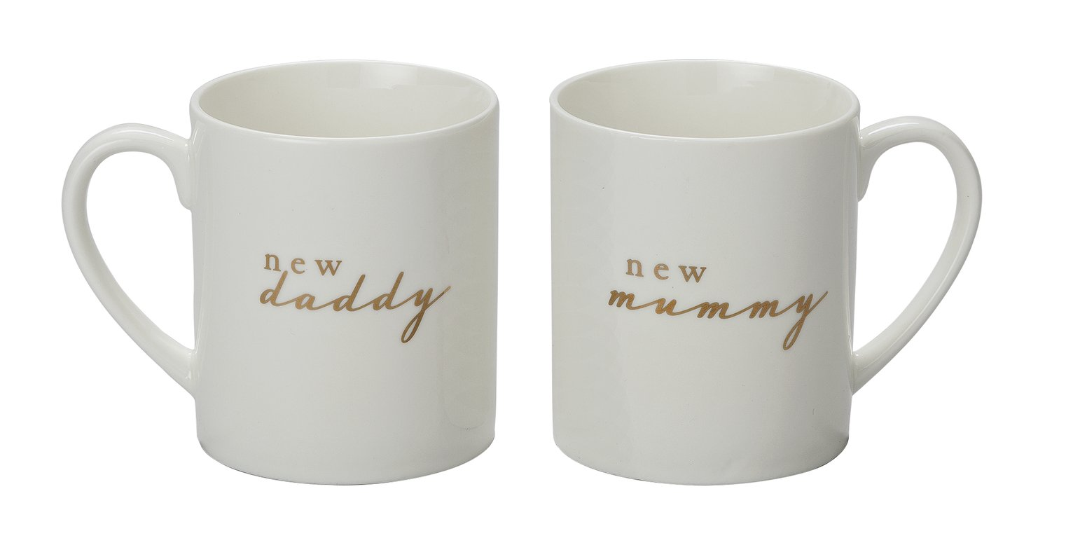 Bambino New Mummy and New Daddy Mug Set