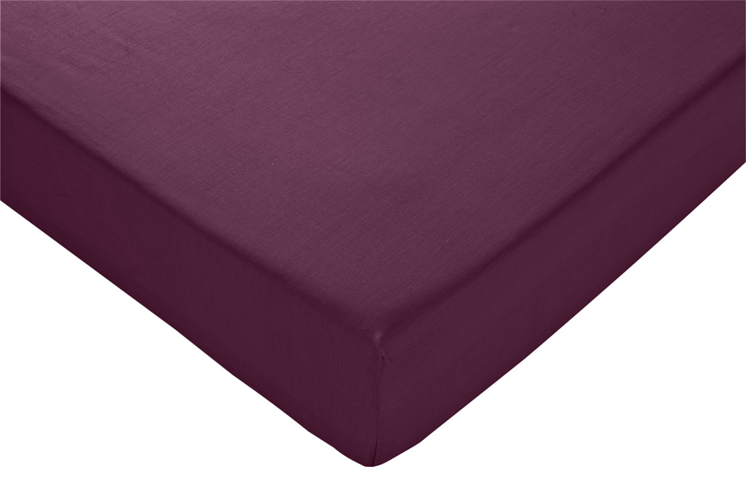 Argos Home Fig Cotton Rich Fitted Sheet - Double