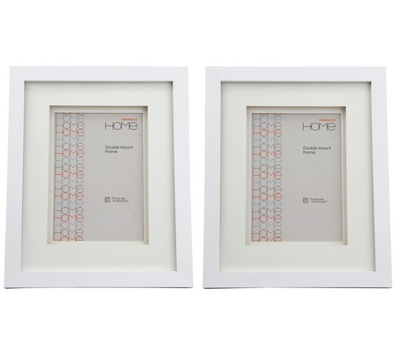 Buy Set of 2 5x7 Inch Double Mount Frames - White | Photo frames | Argos