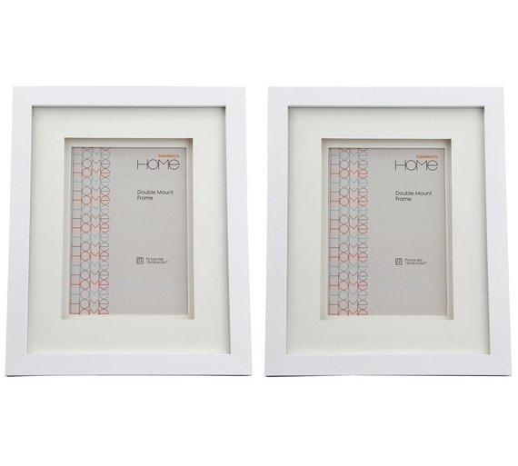 Buy Set of 2 5x7 Inch Double Mount Frames - White | Photo frames | Argos
